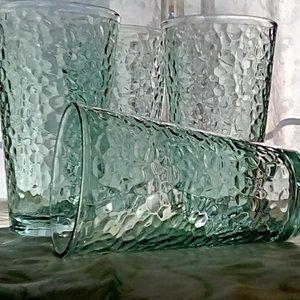 Vintage Green Glass Tumbler 4-pc. Set
